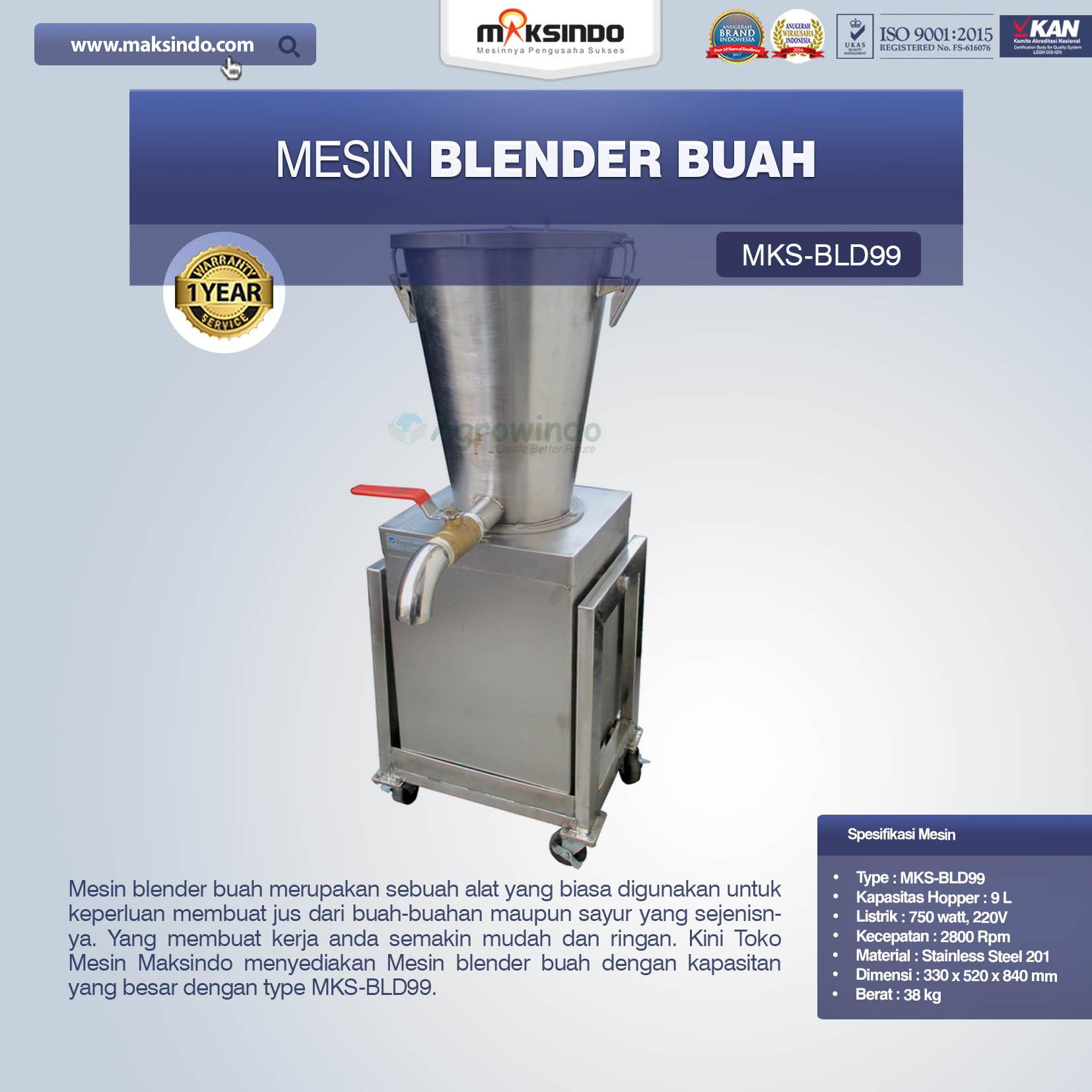 Jual Mesin Blender Buah MKS-BLD99 di Bandung