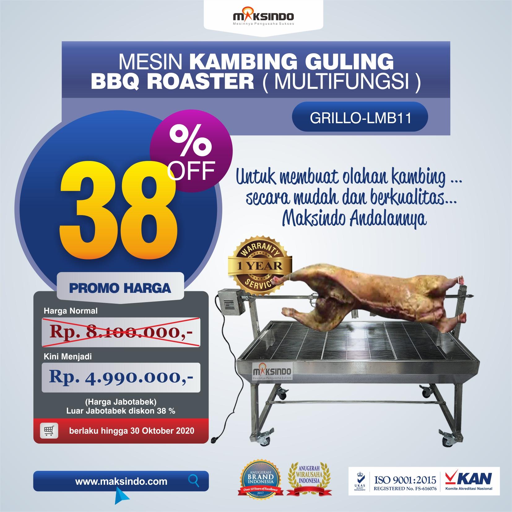 Jual Mesin Kambing Guling BBQ Roaster (GRILLO-LMB11) di bandung
