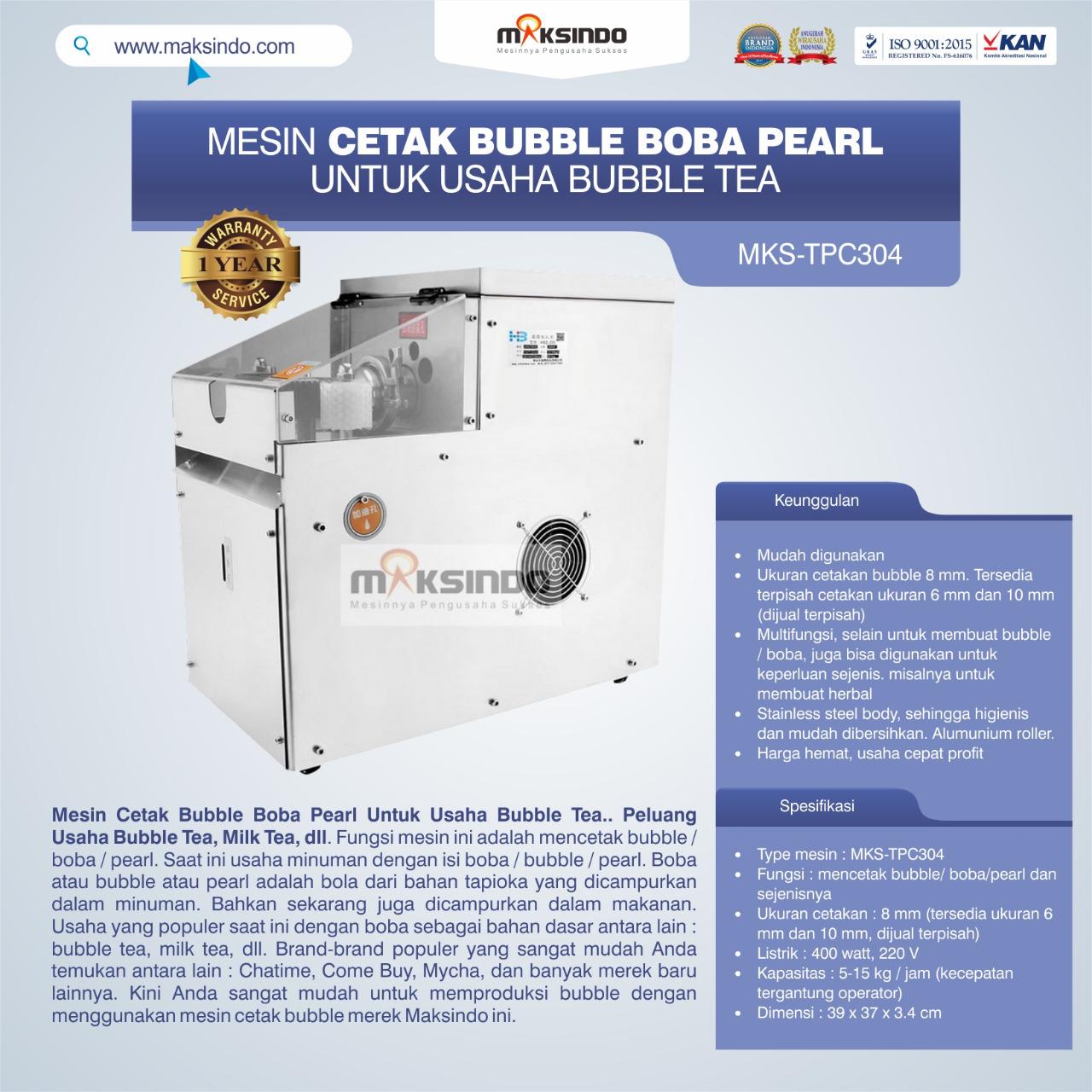 Jual Mesin Cetak Bubble Boba Pearl Untuk Usaha Bubble Tea di Bandung