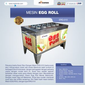 Jual Mesin Pembuat Egg Roll ERG-010 di Bandung