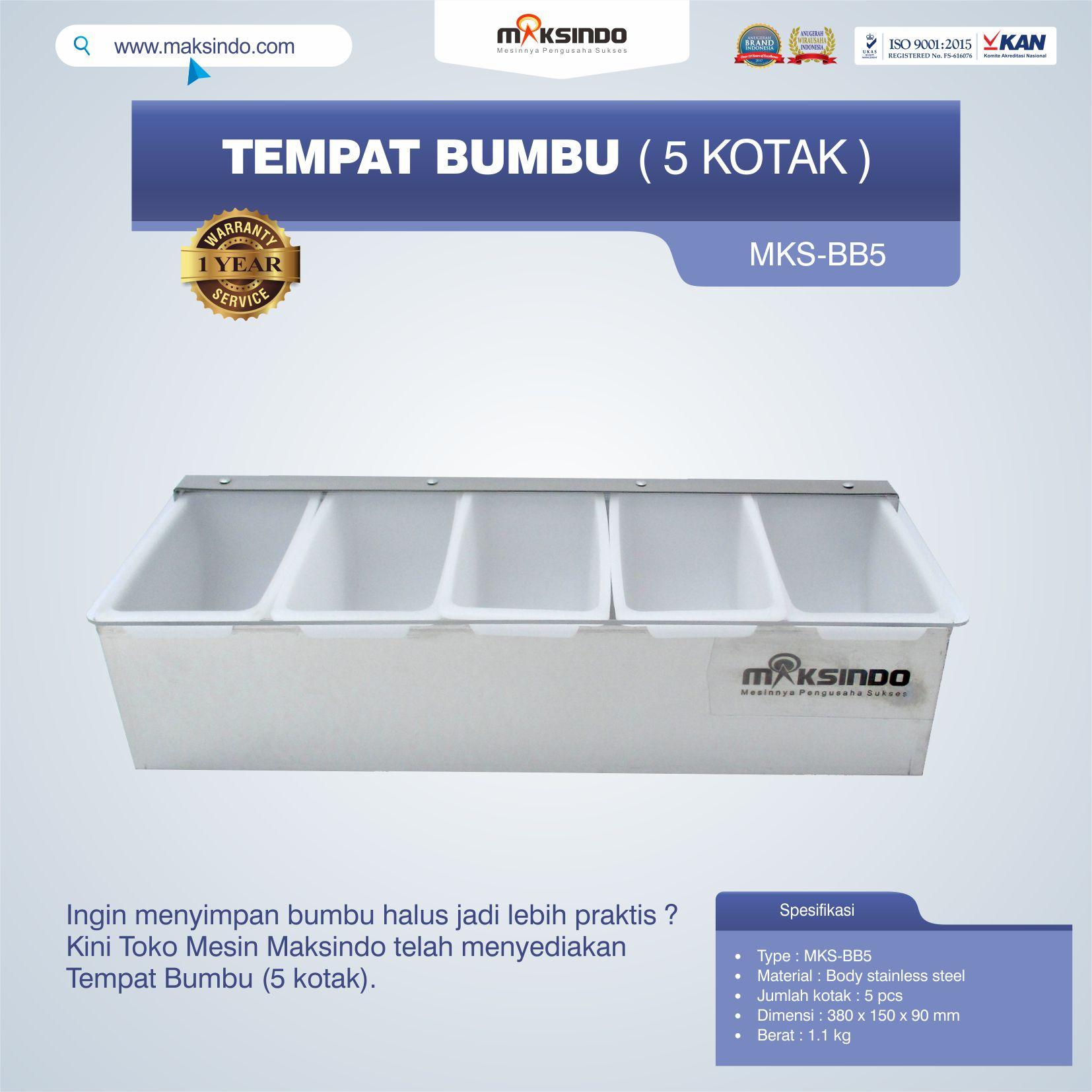 Jual Tempat Bumbu (5 Kotak) Di Bandung