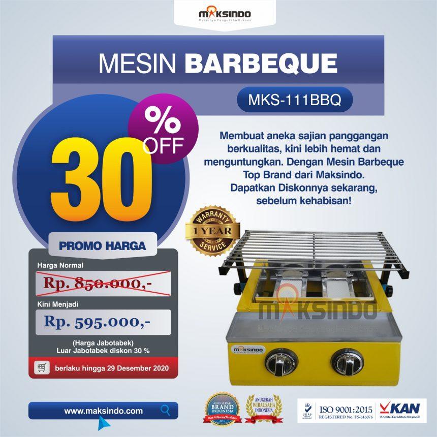 Jual Mesin Pemanggang Sate – BBQ 2 Tungku (Gas) di Bandung