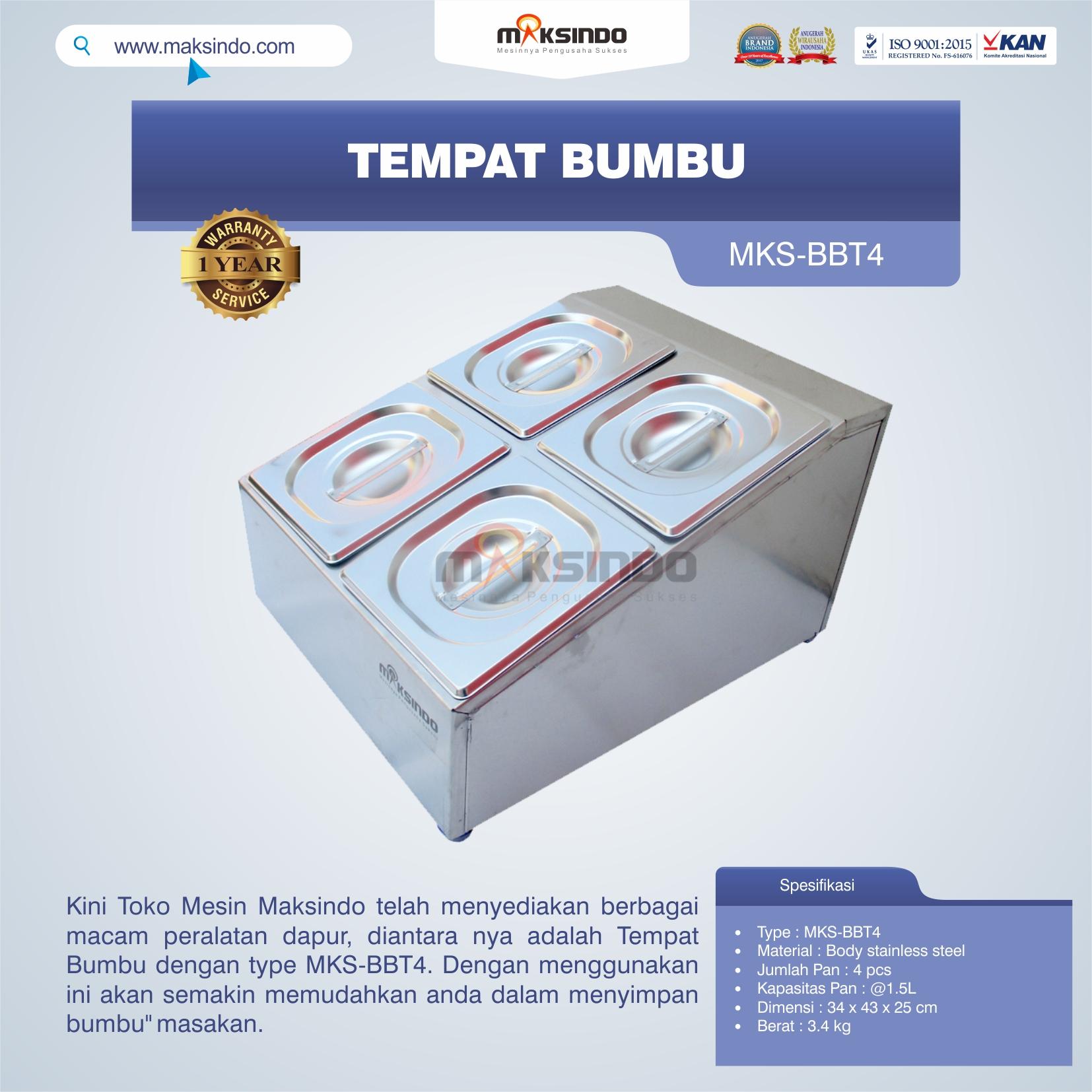 Jual Tempat Bumbu MKS-BBT4 di Bandung