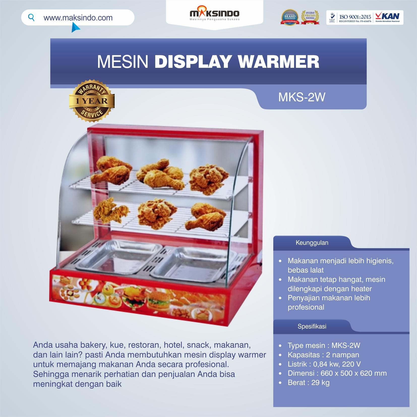 Jual Mesin Diplay Warmer (MKS-2W) di Bandung