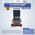 Jual Mesin Waffle Maker Bentuk Hati (Love) MKS-GNG4 di Bandung