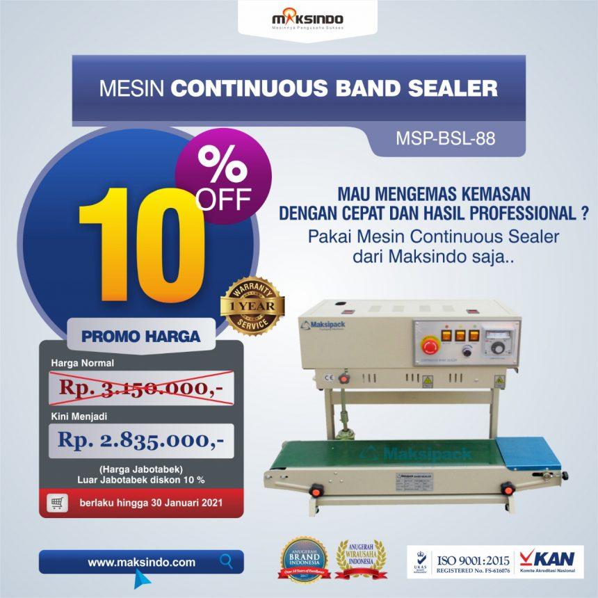 Jual Mesin Continuous Band Sealer MSP-BSL-88 di Bandung