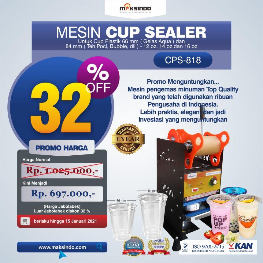 Jual Mesin Cup Sealer Manual CPS-818 di Bandung