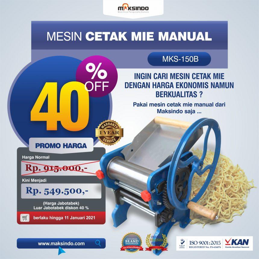 Jual Cetak Mie Manual Untuk Usaha (MKS-150B) di Bandung