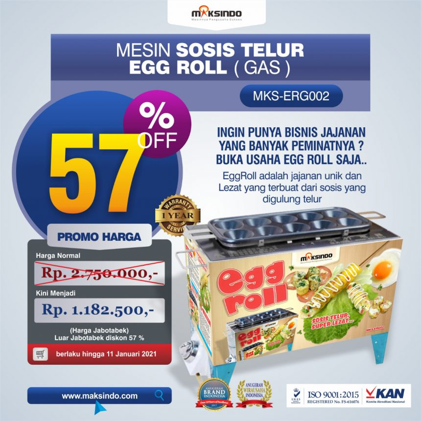 Jual Mesin Pembuat Egg Roll (Gas) MKS-ERG002 di Bandung