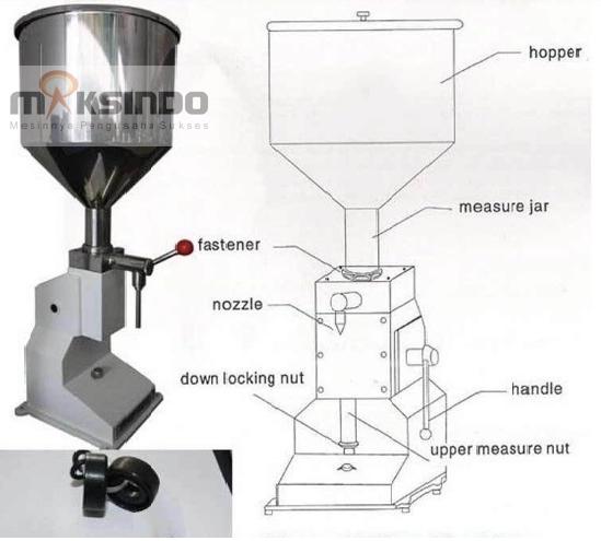Jual Mesin Manual Filling Cairan-Pasta – MKS-MF10 di Bandung