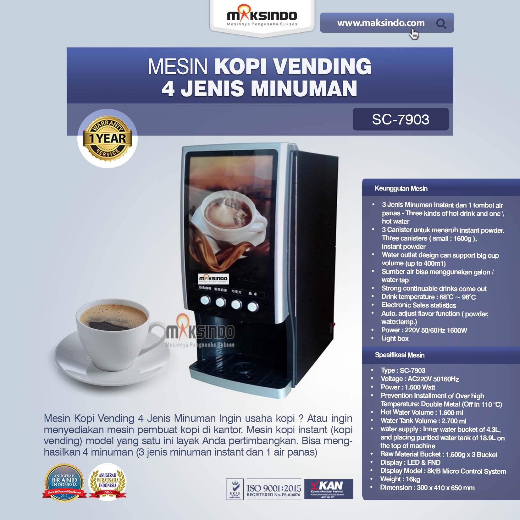 Jual Mesin Kopi Vending 4 Jenis Minuman di Bandung