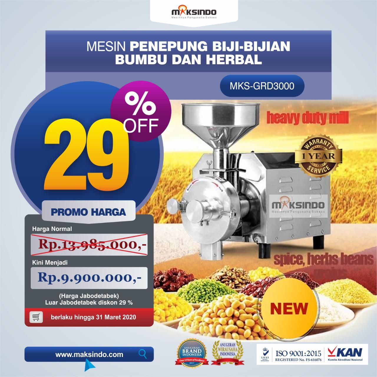 Jual Penepung Biji, Bumbu dan Herbal (GRD3000) di Bandung