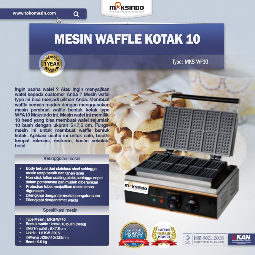Jual Mesin Waffle Kotak 10 (WF10) Di Bandung