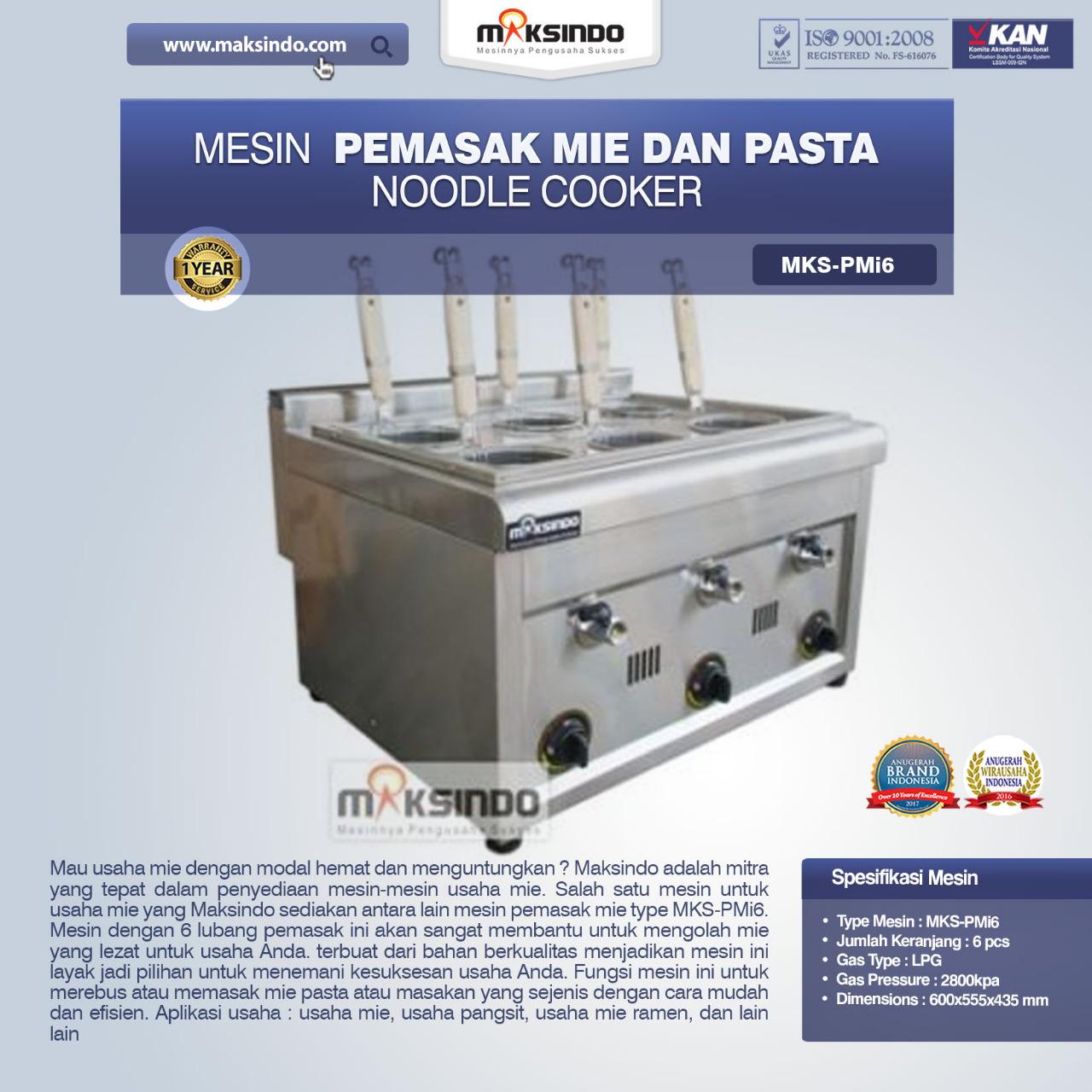 Jual Noodle Cooker (Pemasak Mie Dan Pasta) MKS-PMI6 di Bandung