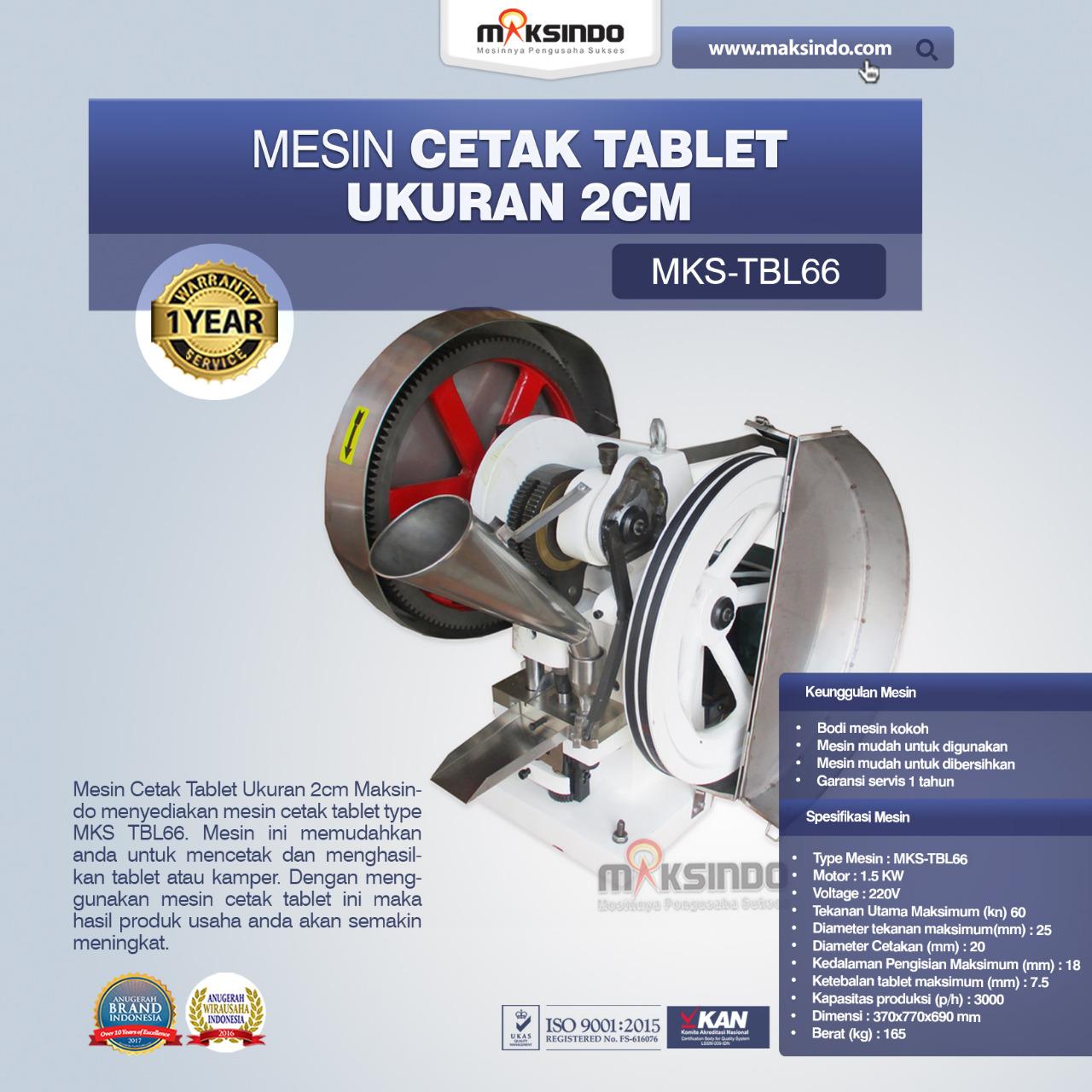 Jual Mesin Cetak Tablet Ukuran 2cm di Bandung