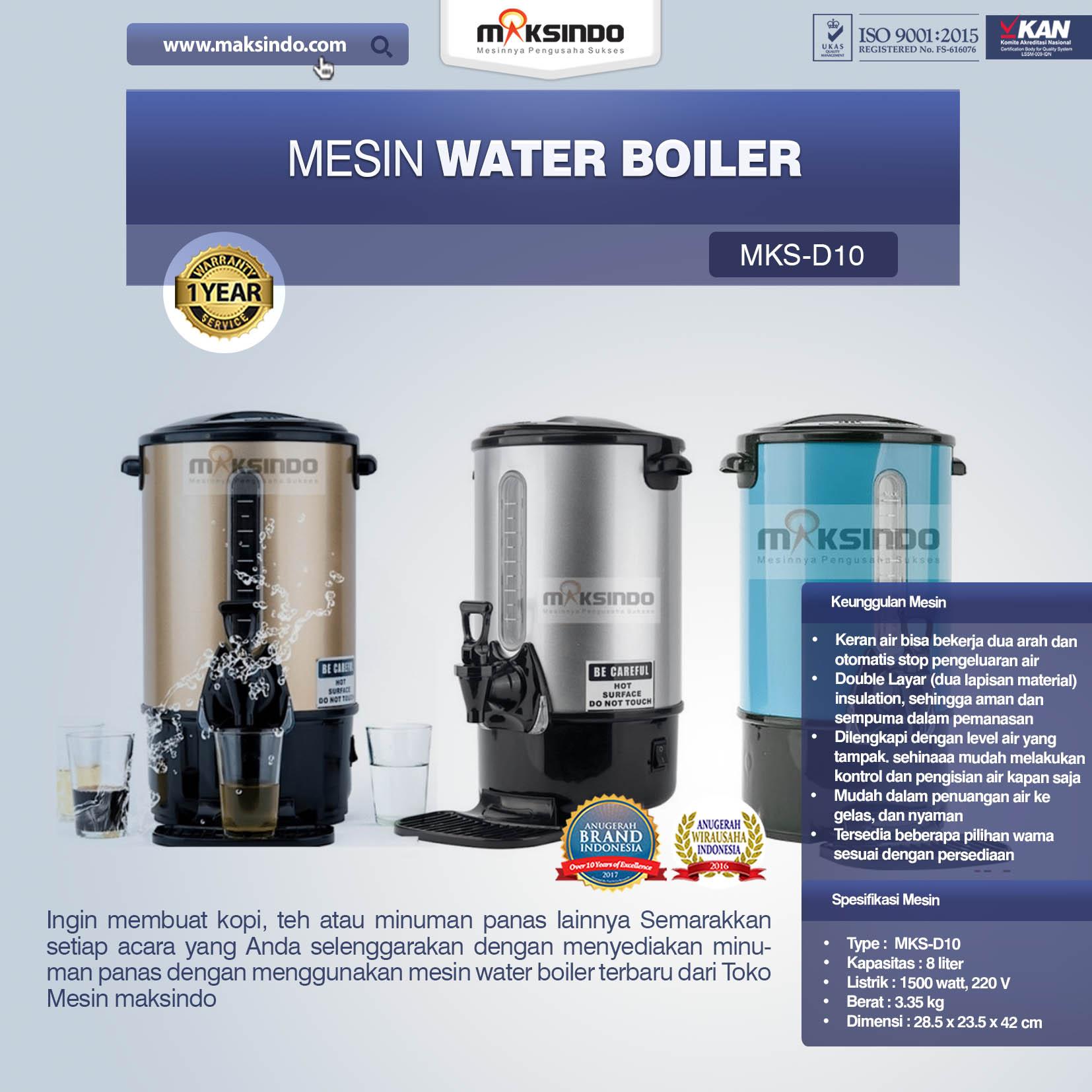 Jual Mesin Water Boiler New Model di Bandung