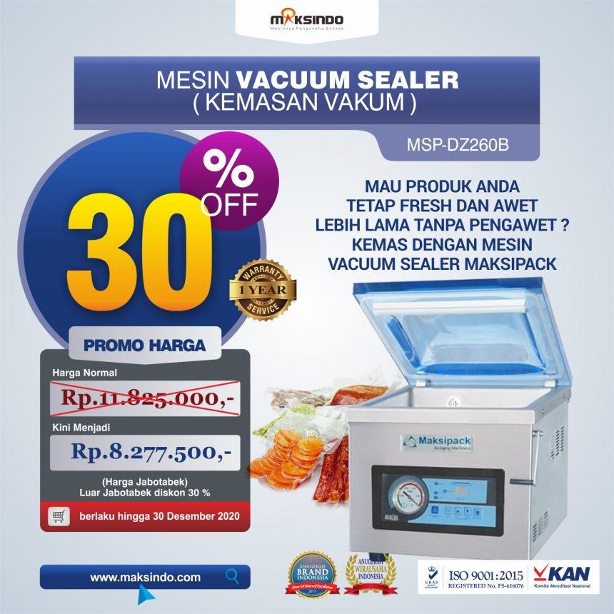 Jual Mesin Vacuum Sealer Singgle Seal MSP-DZ260B di Bandung