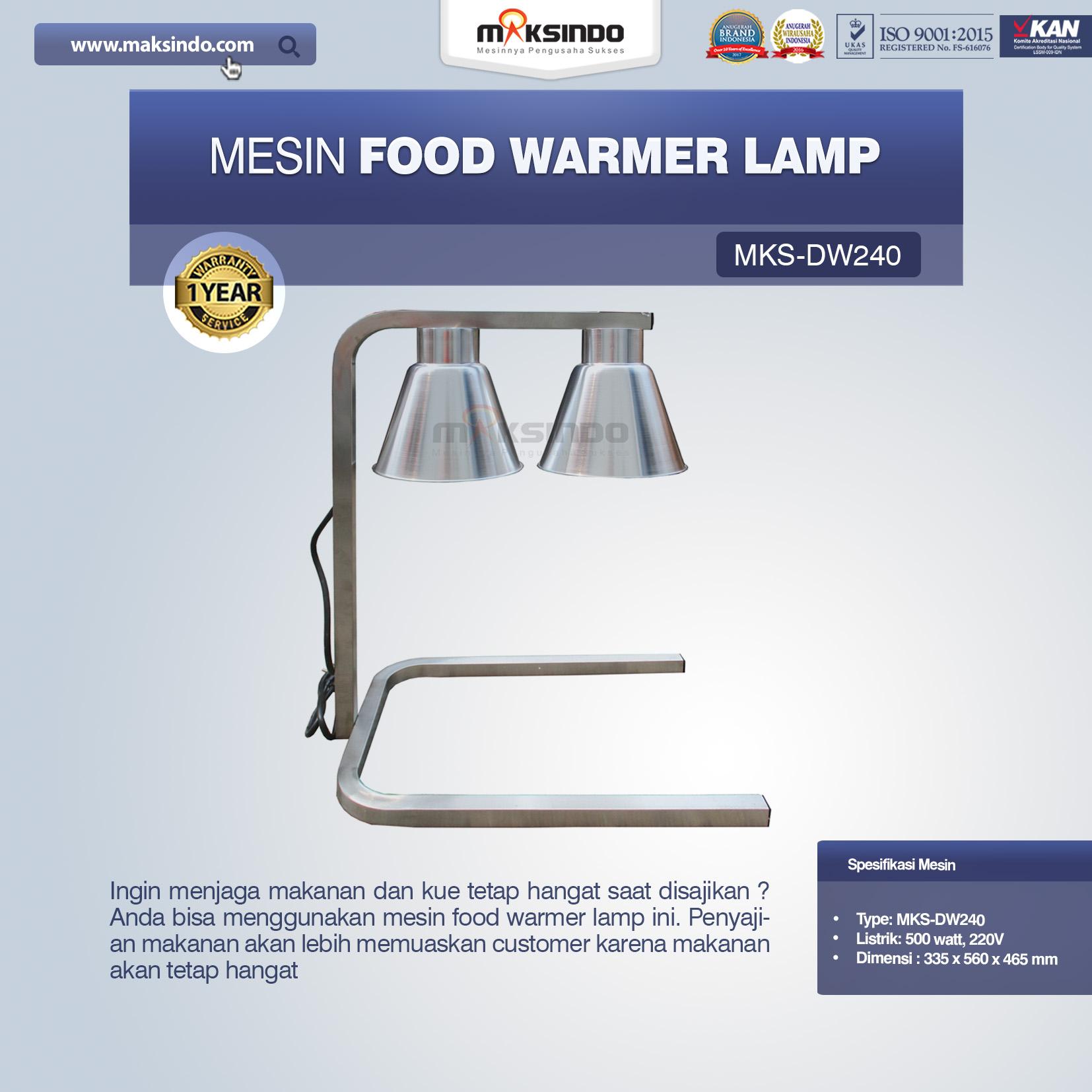 Jual Mesin Food Warmer Lamp MKS-DW240 di Bandung