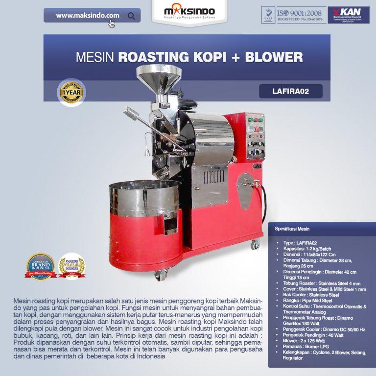 Jual Mesin Roasting Kopi + Blower Lafira 02 di Bandung