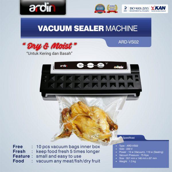Jual Mesin Vacuum Sealer VS02 Ardin (Basah Dan Kering) Di Bandung