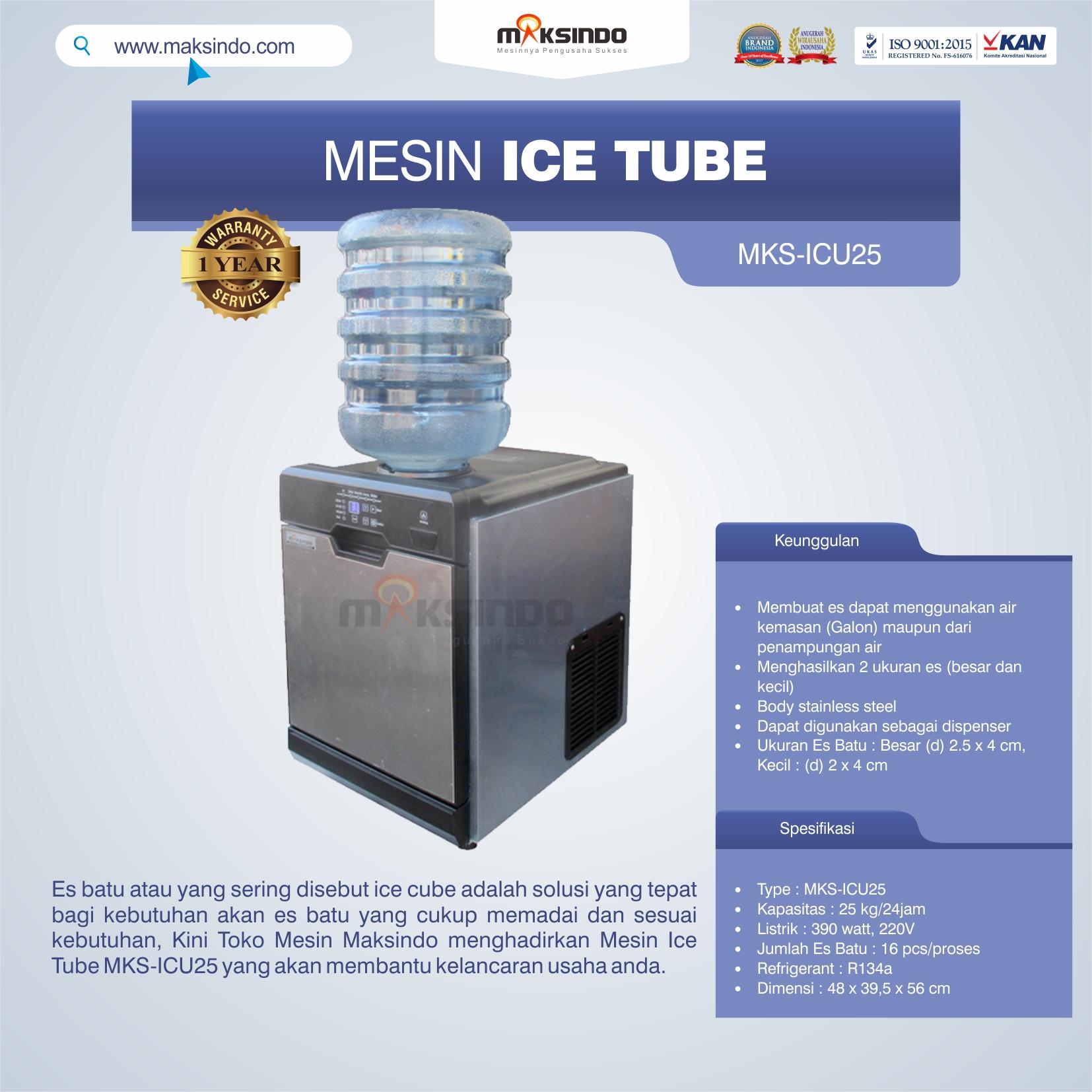 Jual Mesin Ice Tube MKS-ICU25 di Bandung