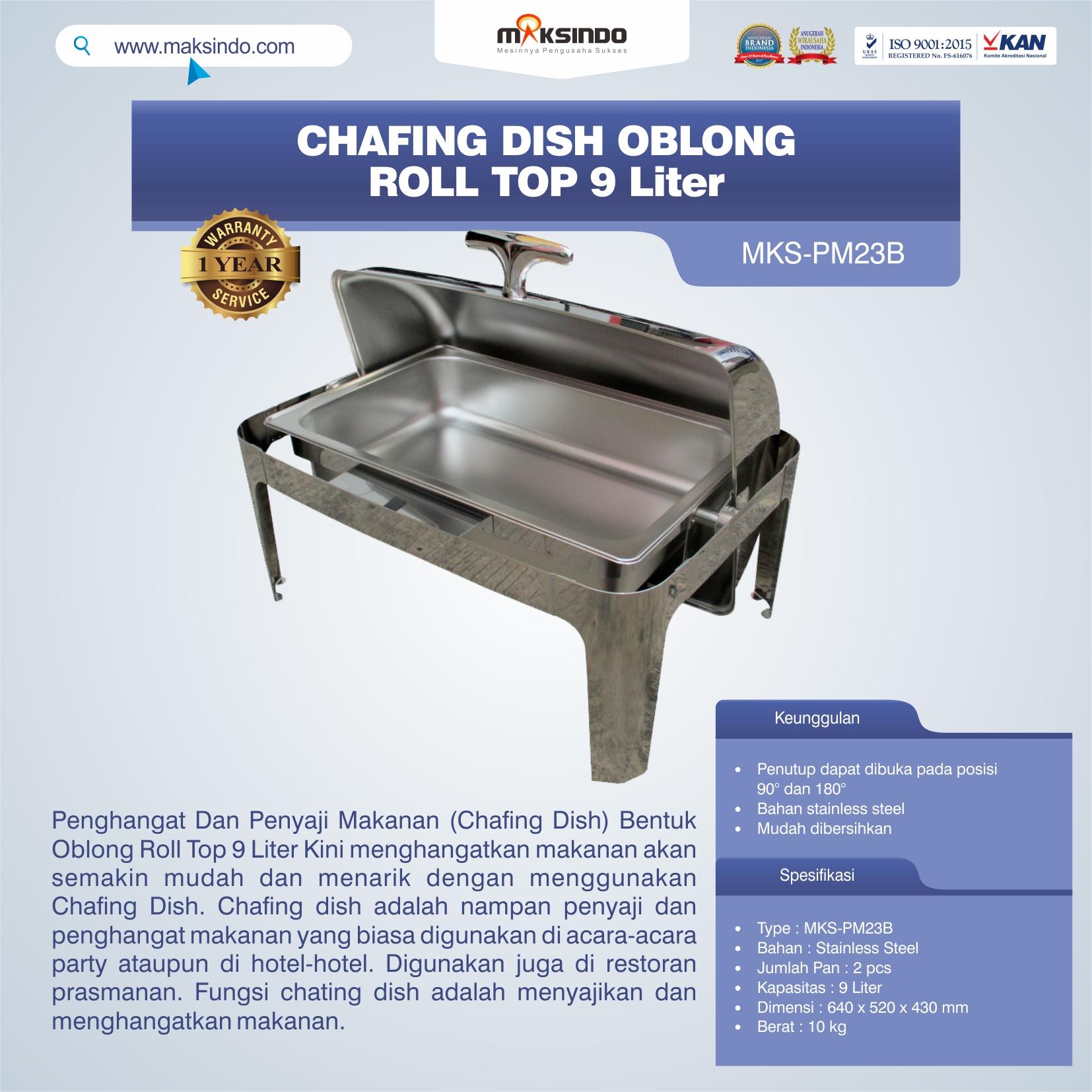 Jual Chafing Dish Oblong Roll Top – 9 Liter Di Bandung