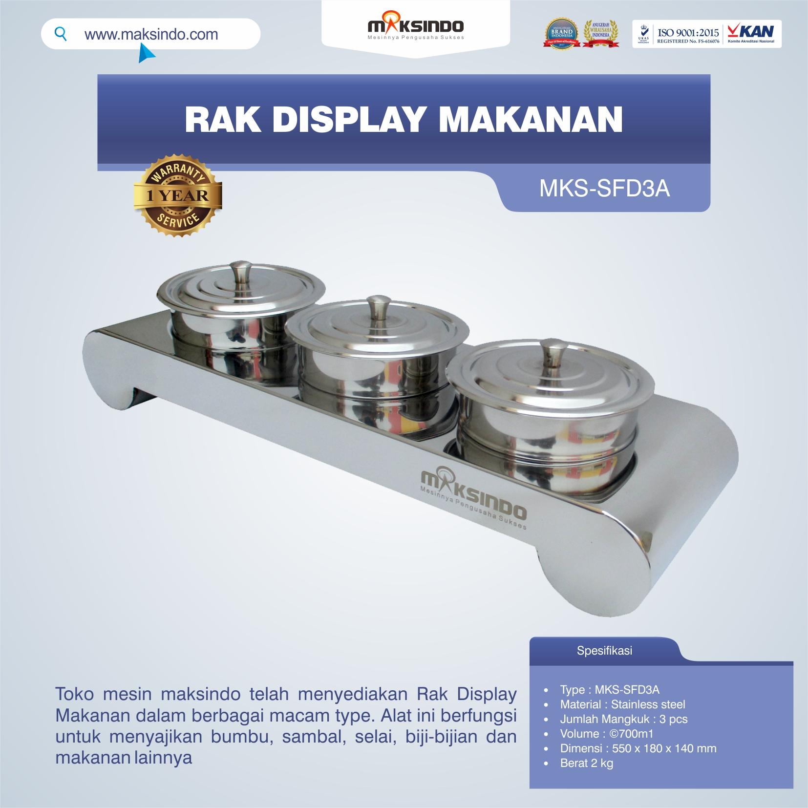 ual Rak Display Makanan di Bandung