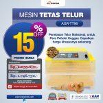 Jual Mesin Penetas Telur 96 Butir Otomatis – AGR-TT96 di Bandung