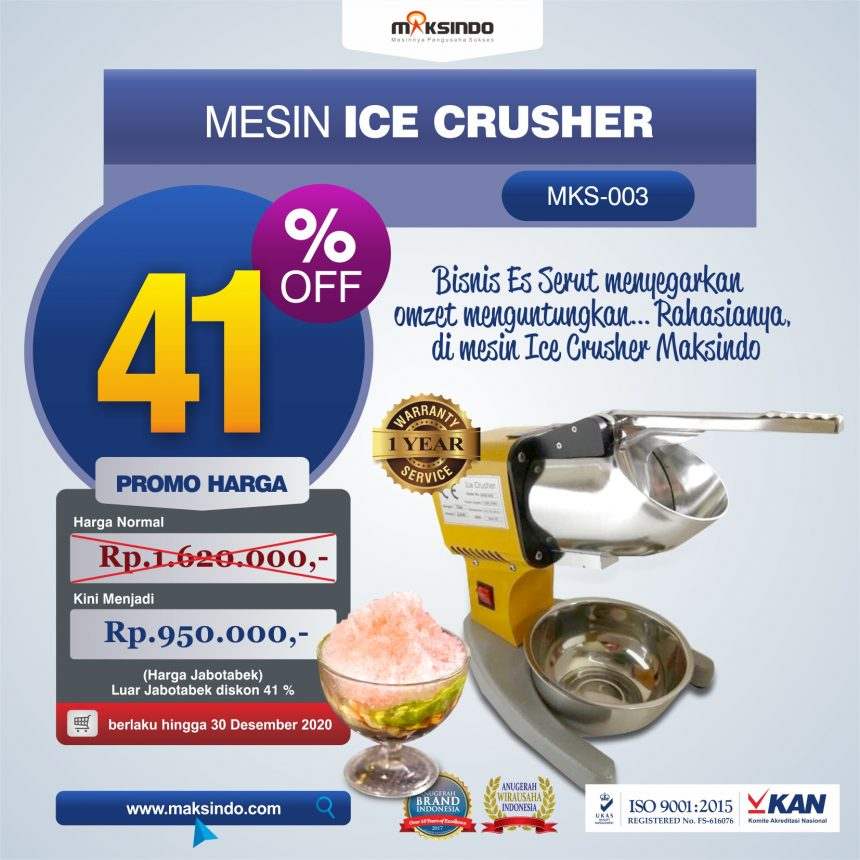 Jual Mesin Es Serut (Ice Crusher MKS-003) di Bandung